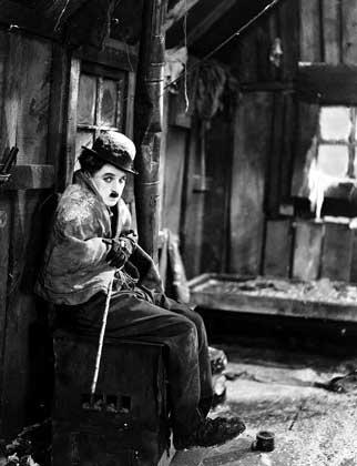 CHARLIE-tramp in the film The Gold Rush (1925).