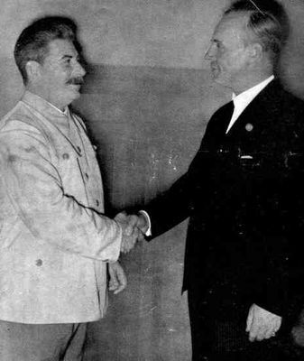 Stalin and Ribbentrop