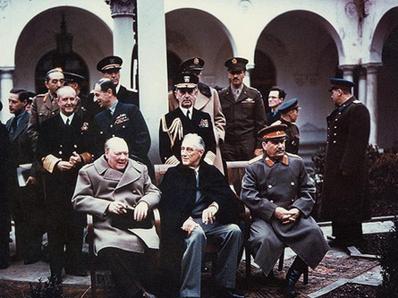 Churchill, Roosevelt and Stalin