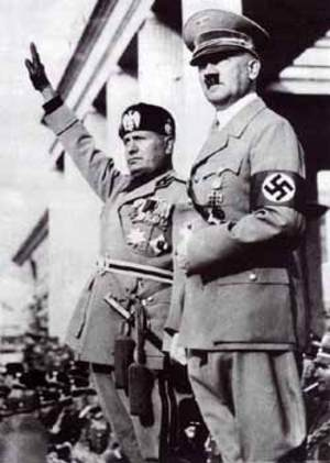 Hitler with the head of fascist Italy, Mussolini