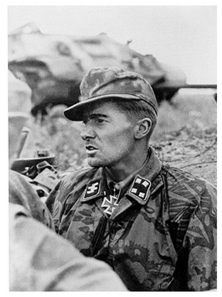 Commander of the Knights Cross Sturmbannführer Joachim Piper during the years of operation 'Citadel'. July 11, 1943