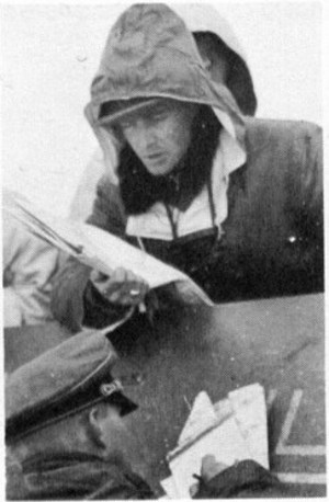 Sturmbannfц+hrer Joachim Piper, with the card. Russia, the end of February 1943.
