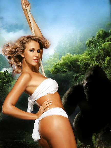 Pregnant Ksenia Sobchak naked for the