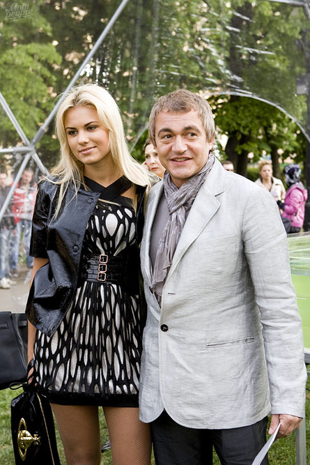 With his third wife, Alexandra Shevchenko