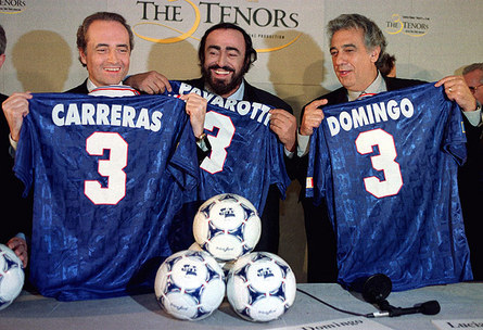 Pavarotti with Jose Carreras and Placido Domingo