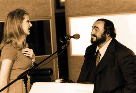 Pavarotti and Celine Dion