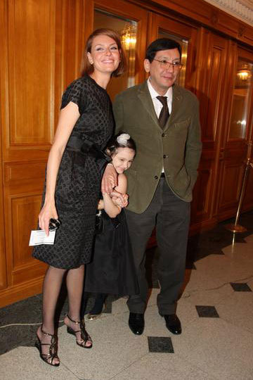 With her husband, Yegor Konchalovsky and daughter Masha