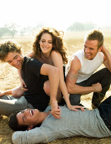 Robert Pattinson, Kristen Stewart, Cam Gigandet and Taylor Lautner