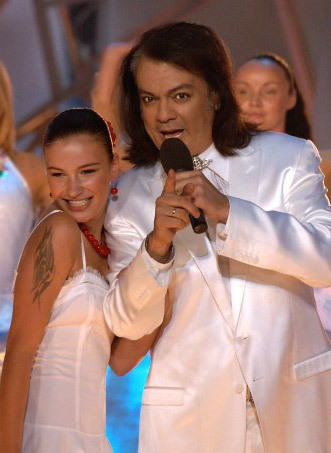 Anastasia Prikhodko and Philip Kirkorov