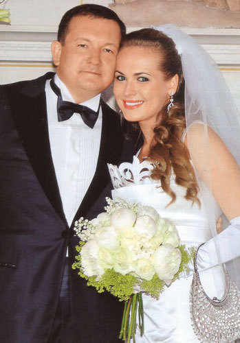 Anna Gorshkova with her husband, Michael Borshchev