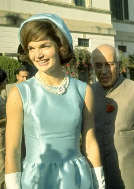 India, in March 1962 with Prime Minister Nehru Jackie.
