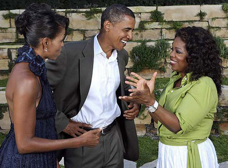 Spouses Obama and Oprah Winfrey