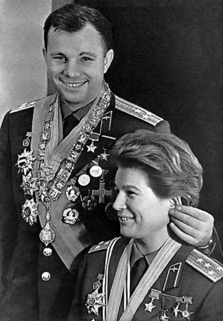 Valentina Tereshkova, and Yuri Gagarin