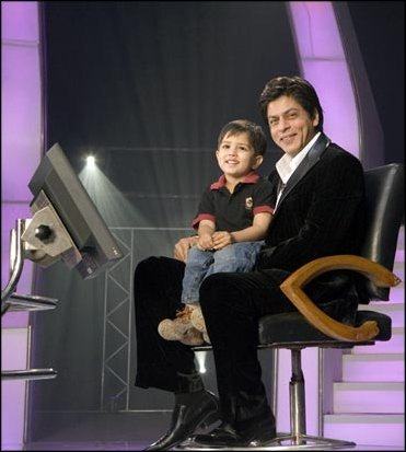 WIth his son Aryan